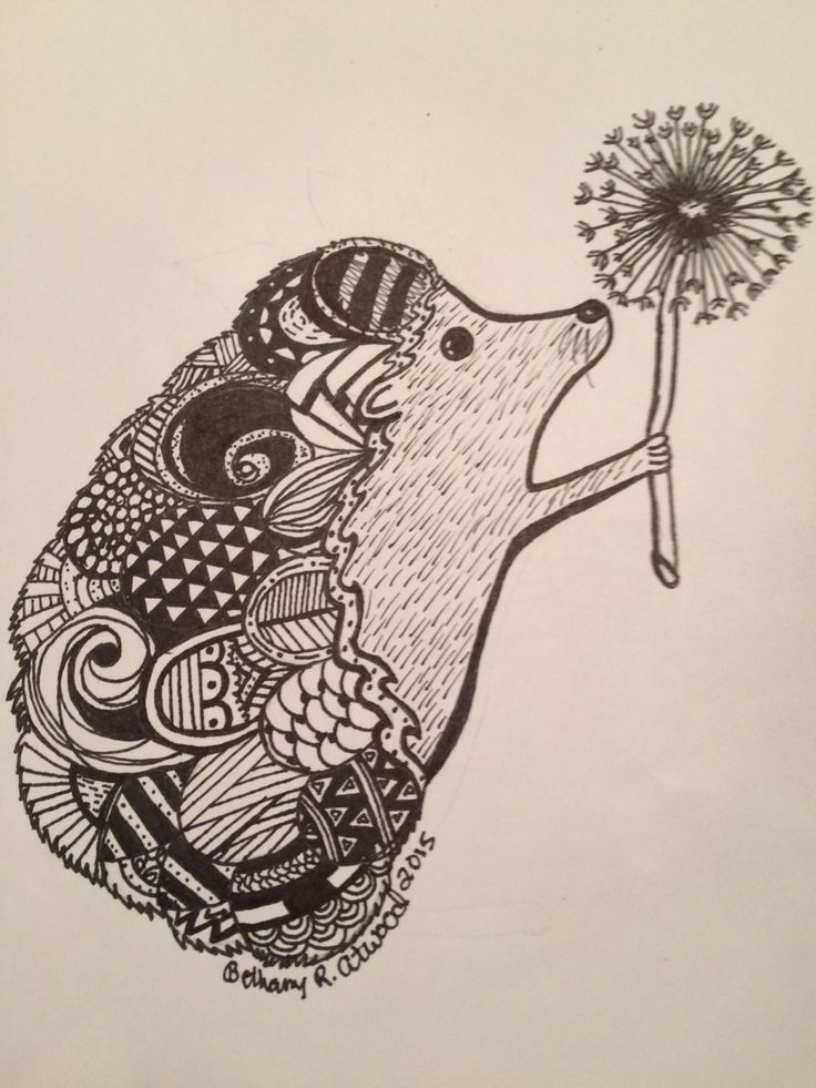 Drawn hedgehog zentangle To on Zentangle Hedgehog best