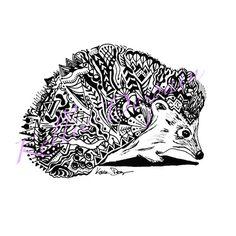 Drawn hedgehog zentangle Zentangle Pinterest at Hedgehog this