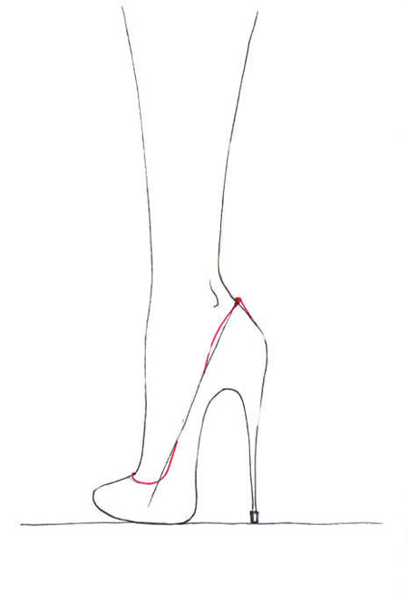 Drawn shoe high heel Draw shoes Draw Fashion How