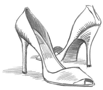 Drawn shoe high heel Drawing … Drawing Design Fashion