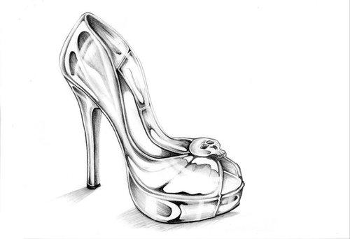 Drawn heels Heel on High by Heart