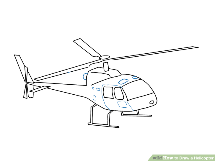 Drawn helicopter A titled a Draw to