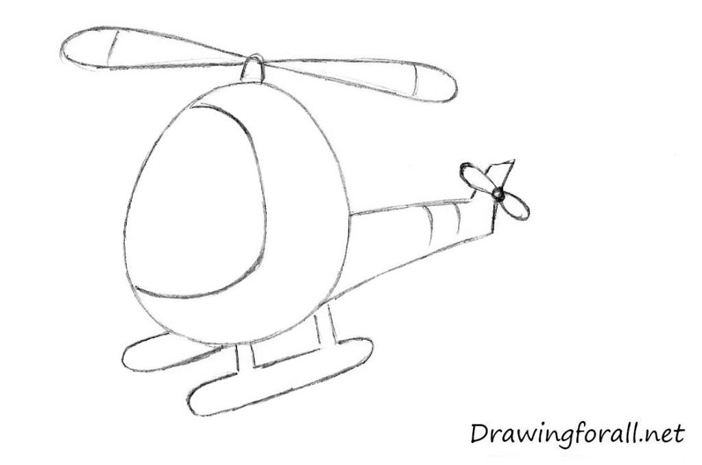 Drawn helicopter A to a Draw to