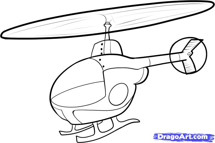 Drawn helicopter A to a Draw Transportation
