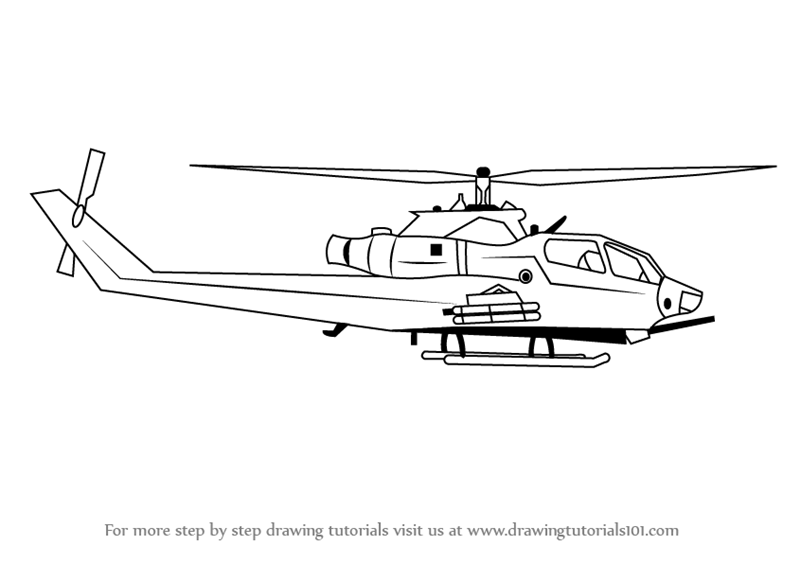 Drawn helicopter A to a Draw Step