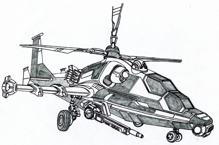 Drawn helicopter attack helicopter By Helicopter by Vladimir3d Attack