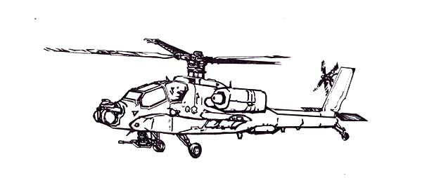 Drawn helicopter attack helicopter Attack Attack coloring Helicopter drawings