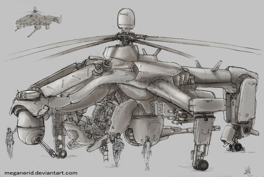 Drawn helicopter attack helicopter Of name Fuujin taken the