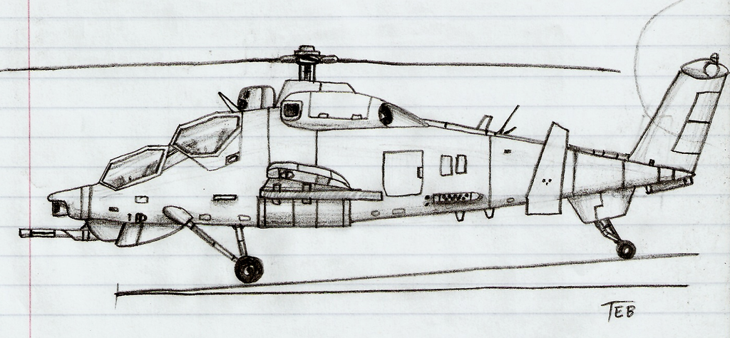 Drawn helicopter attack helicopter On Helicopter DeviantArt Attack by