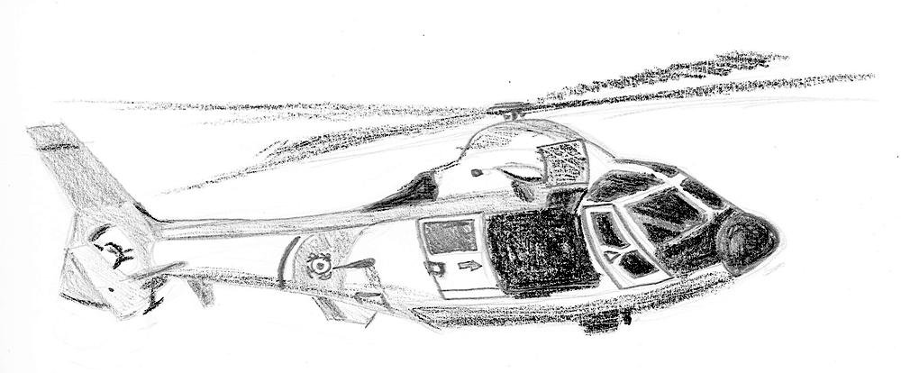 Drawn helicopter bomber The The enemy The designed
