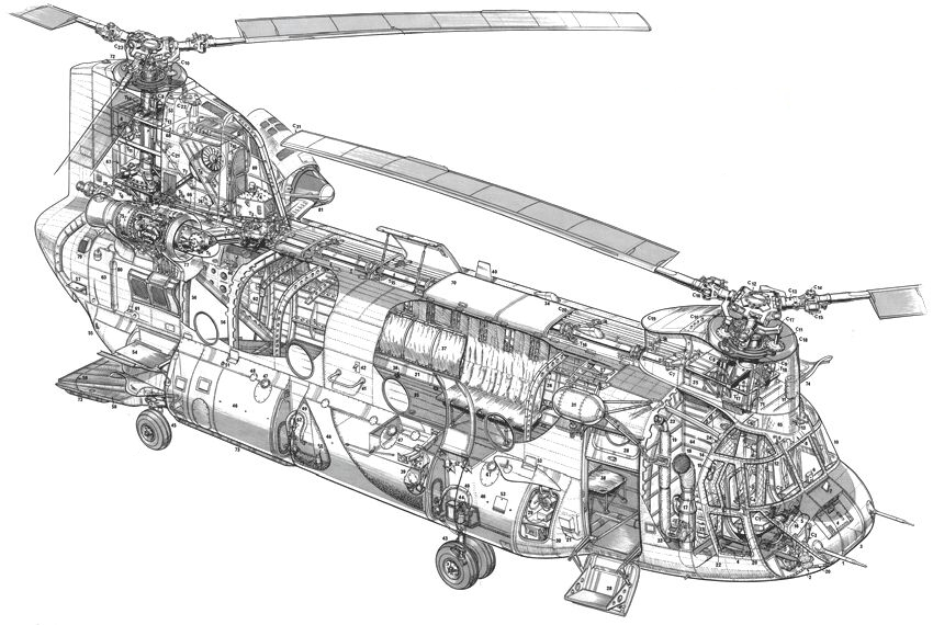 Drawn helicopter chinook helicopter Drawings 47D Go Chinook to