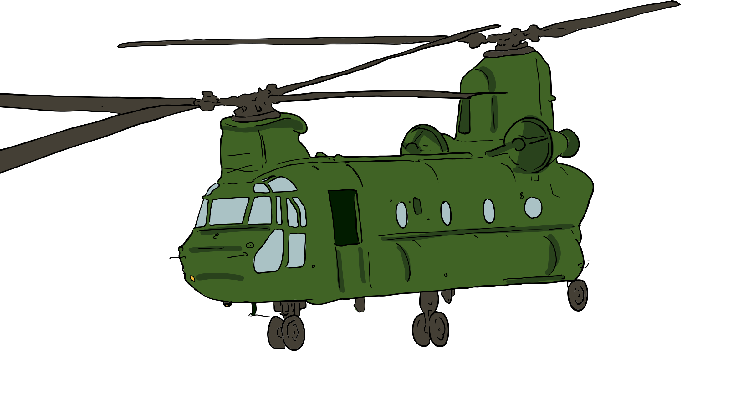 Drawn helicopter chinook helicopter Helicopter 1 Chinook Clipart Helicopter