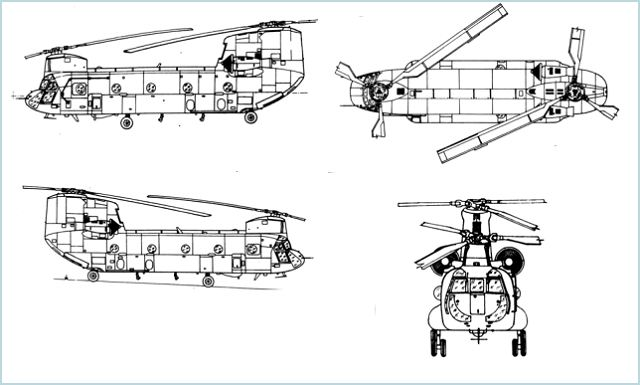 Drawn helicopter chinook helicopter Photos information data 47F sheet