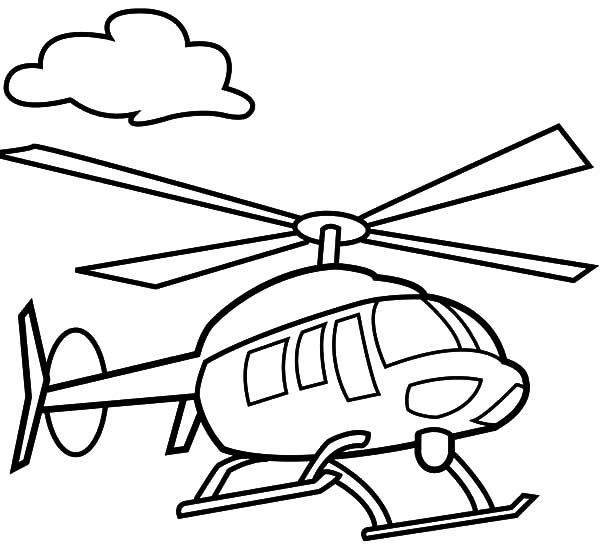 Drawn helicopter colouring page Helicopter Coloring Pages Floating Delightful