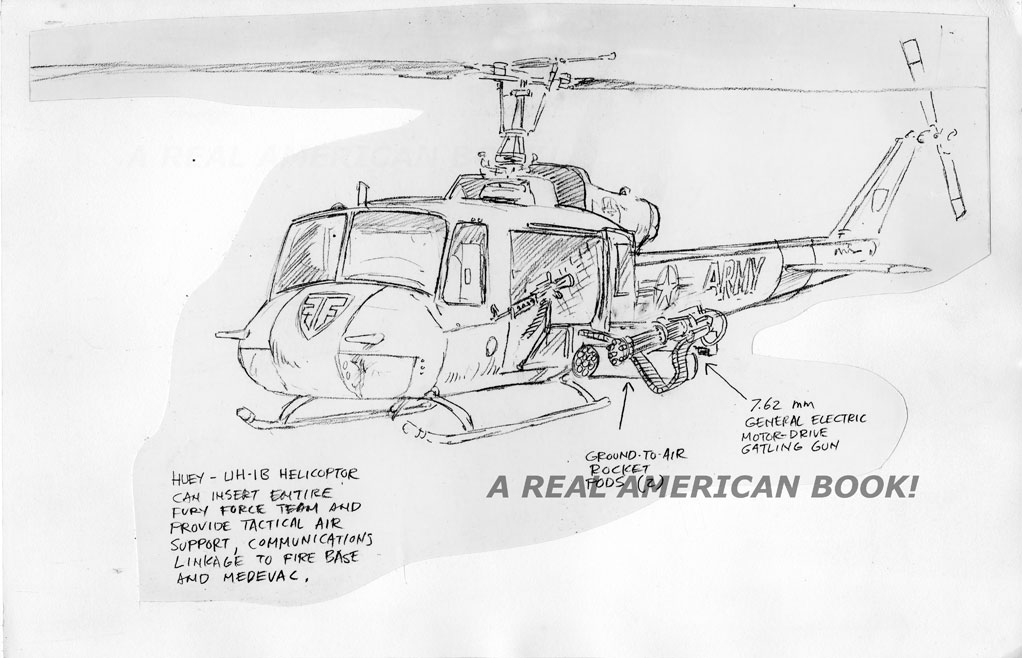 Drawn helicopter comic Fury sketch Books Force by