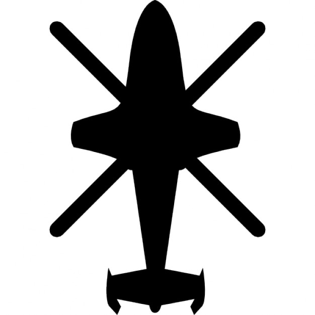 Drawn helicopter icon Icons view top Icon black