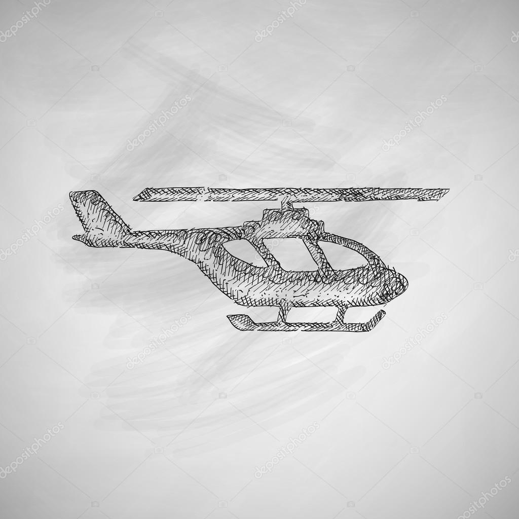 Drawn helicopter icon — Palau83 — icon Vector