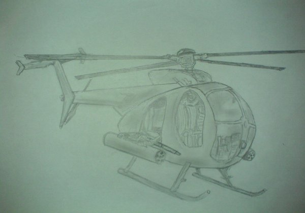 Drawn helicopter little bird Helicopter Helicopter Littlebird by AzumiNinja