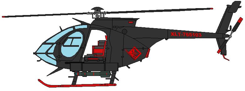 Drawn helicopter little bird MH 6 Enforcement Bird Little