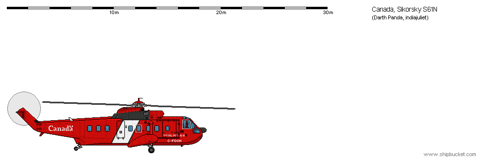 Drawn helicopter shipbucket 61N Real Vehicles/Air Scale Vehicles/Air
