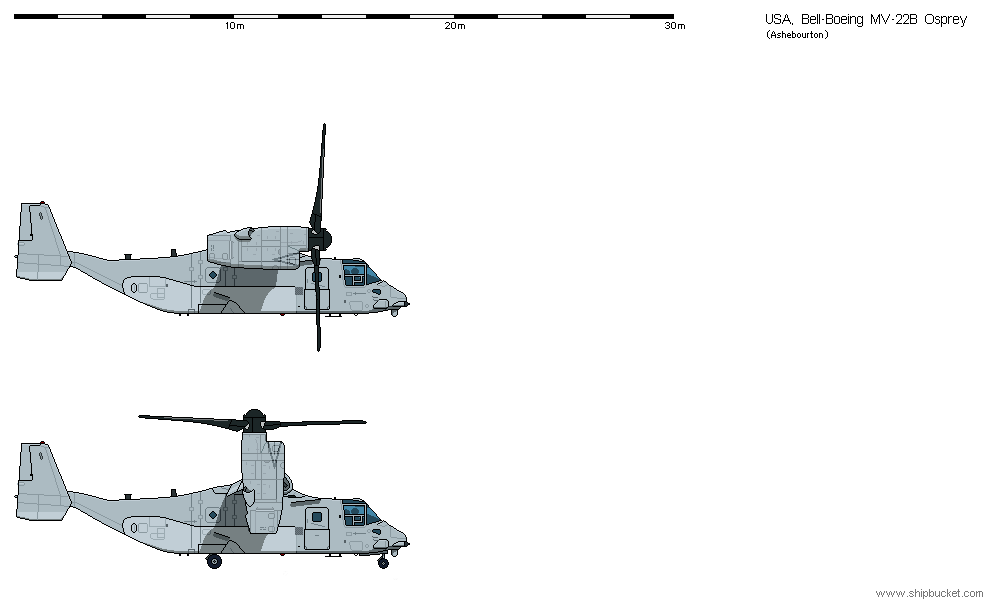 Drawn helicopter shipbucket Completed Ashebourton's Osprey Shipbucket 22