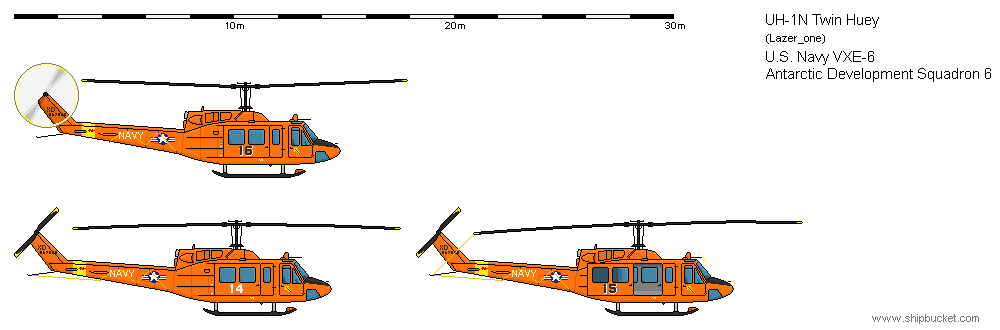 Drawn helicopter shipbucket UH Drawings/FD Vehicles Vehicles/Air Scale