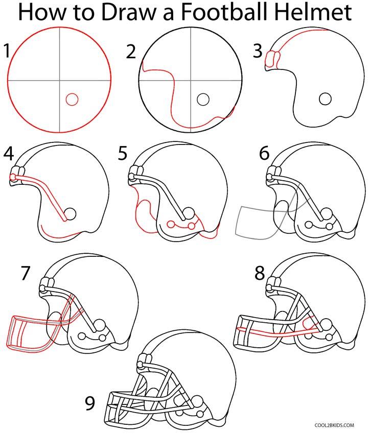 Drawn helmet To Helmet Step (Step Football
