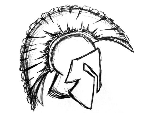 Drawn helmet Drawing for randomly that Spartan