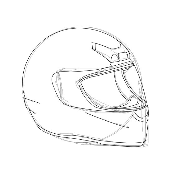Drawn helmet Motorcycle art to How a