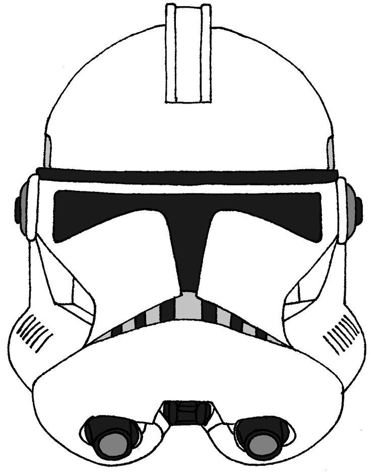 Drawn star wars helmet Trooper helmet on Phase Clone
