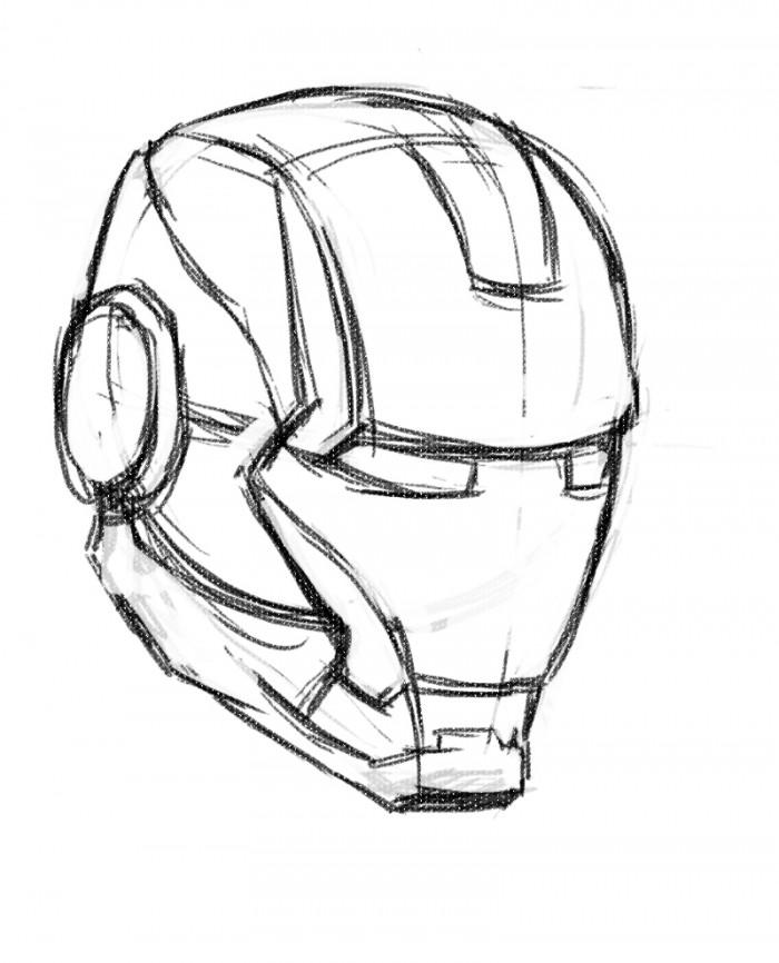 Drawn masks face drawing How Mask ironman com Man