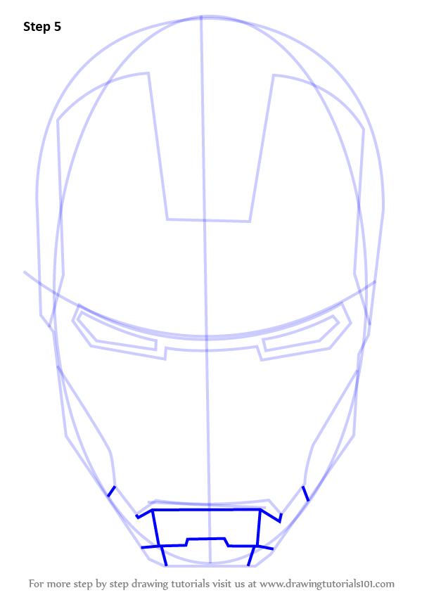 Drawn helmet iron man How by Man's Draw (Iron