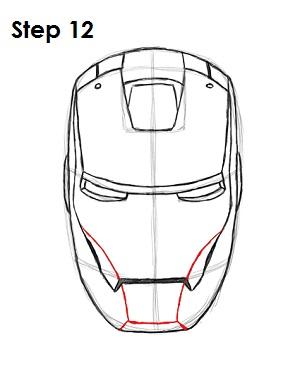 Drawn helmet iron man How Man Draw 12 Draw