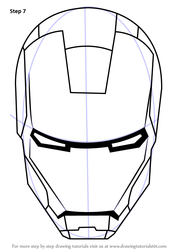 Drawn helmet iron man Learn Step Iron to Helmet