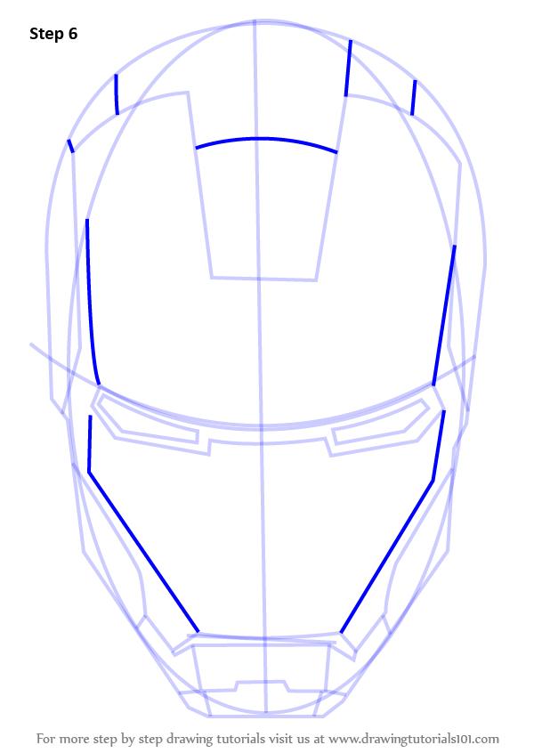 Drawn helmet iron man Draw  (Iron Man's Step