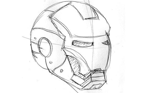Drawn helmet iron man Photoshop 10Steps Man's an Digitally