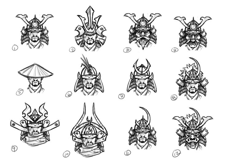 Drawn samurai samurai helmet By Samurai Savage Concepts