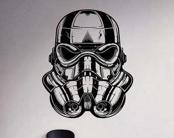 Drawn star wars helmet Helmet Etsy Imperial Home Vinyl