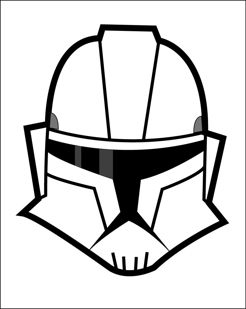 Drawn star wars helmet Trooper Clone Helmet by Clone