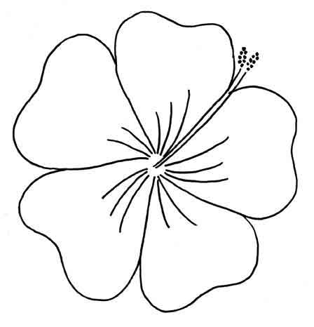 Frangipani clipart leis Vintage Needle Embroidery punching Hibiscus