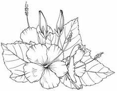 Drawn hibiscus long flower  it deviantart Tattoo @deviantART
