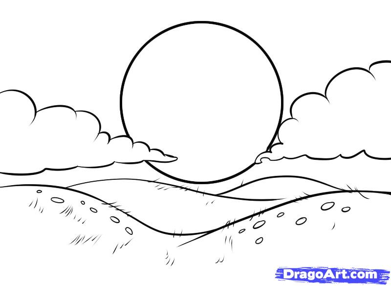 Drawn hill Hills 5 draw Drawing —