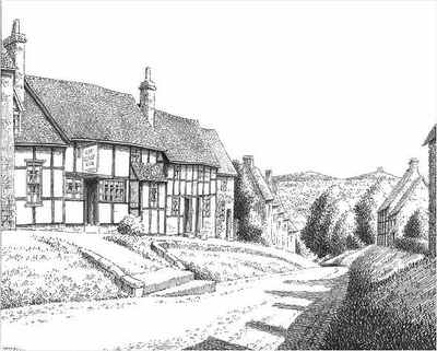 Drawn hill Worcestershire Wyre Hill Worcestershire drawing