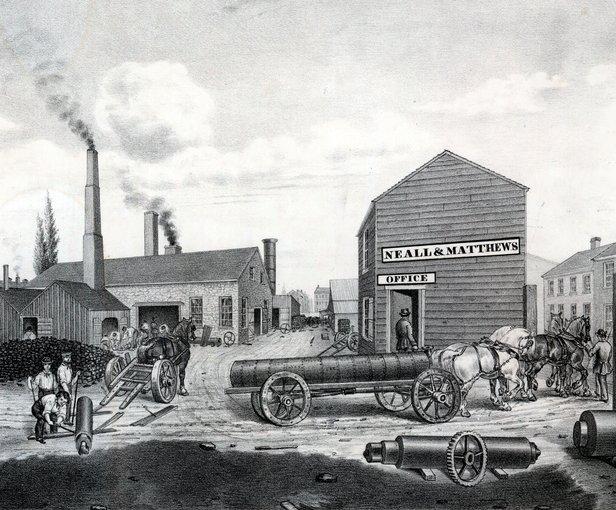Drawn hill bush Hill Machinists Iron Works Iron