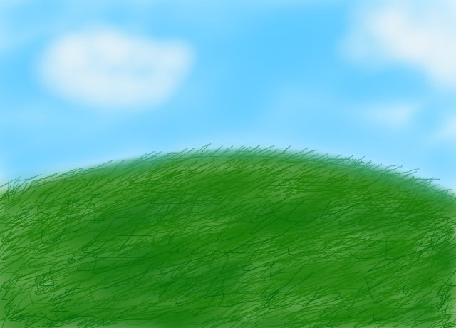 Drawn hill grassy hill By (landscapes smartpiggy97 Hill drawing)