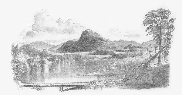 Drawn hill Landscape Art hill Drawing drawing