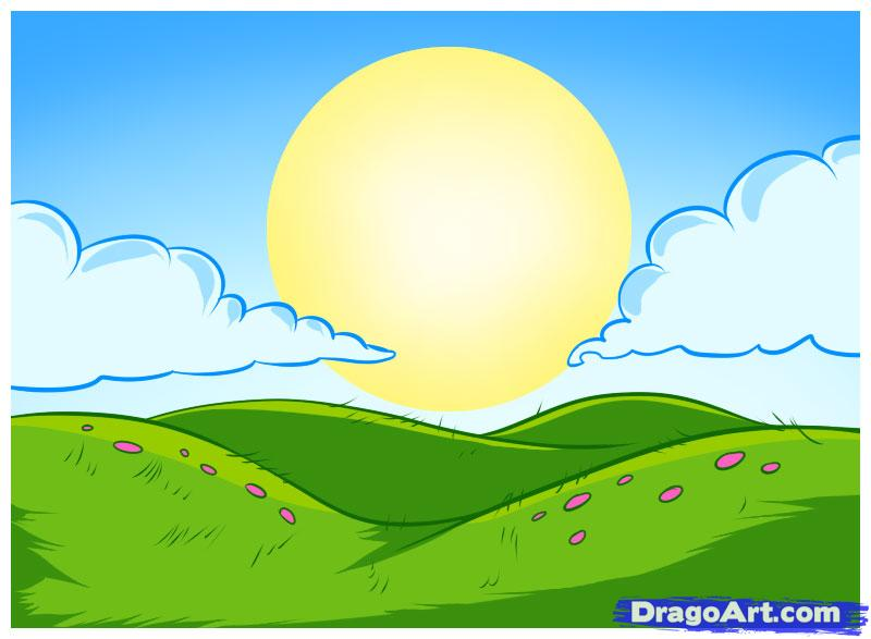 Drawn hill rolling hills Step to How  how