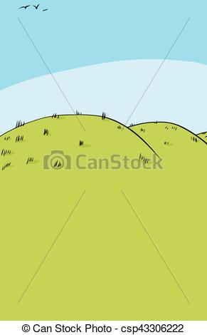 Drawn hill rolling hills Background Vector csp43306222 Background of