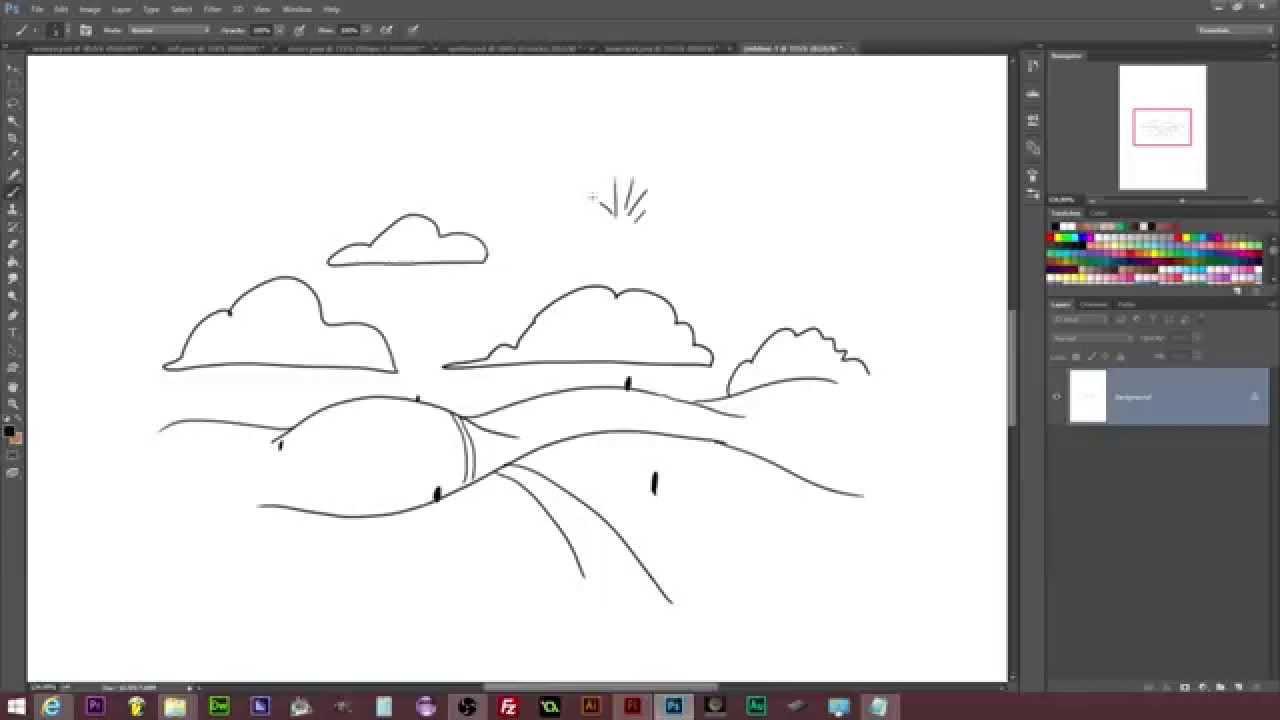 Drawn hill rolling hills Time Draw: Landscape Hills Rolling