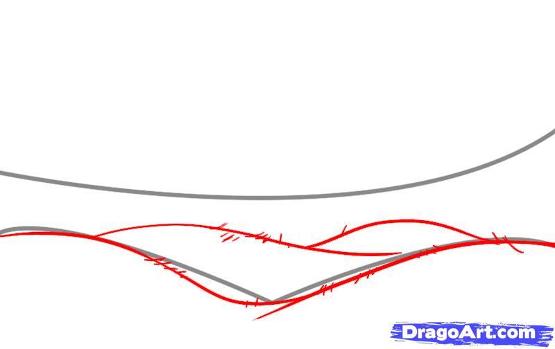 Drawn hill rolling hills Draw  2 step &
